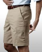 "MPFE2475-GP - Mens cargo short with 9"" inseam"