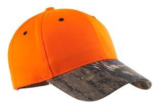 804c-ALLG - 6 Panel Safety to the hunt with this cap that features the popular Mossy Oak® print on the brim and closure.