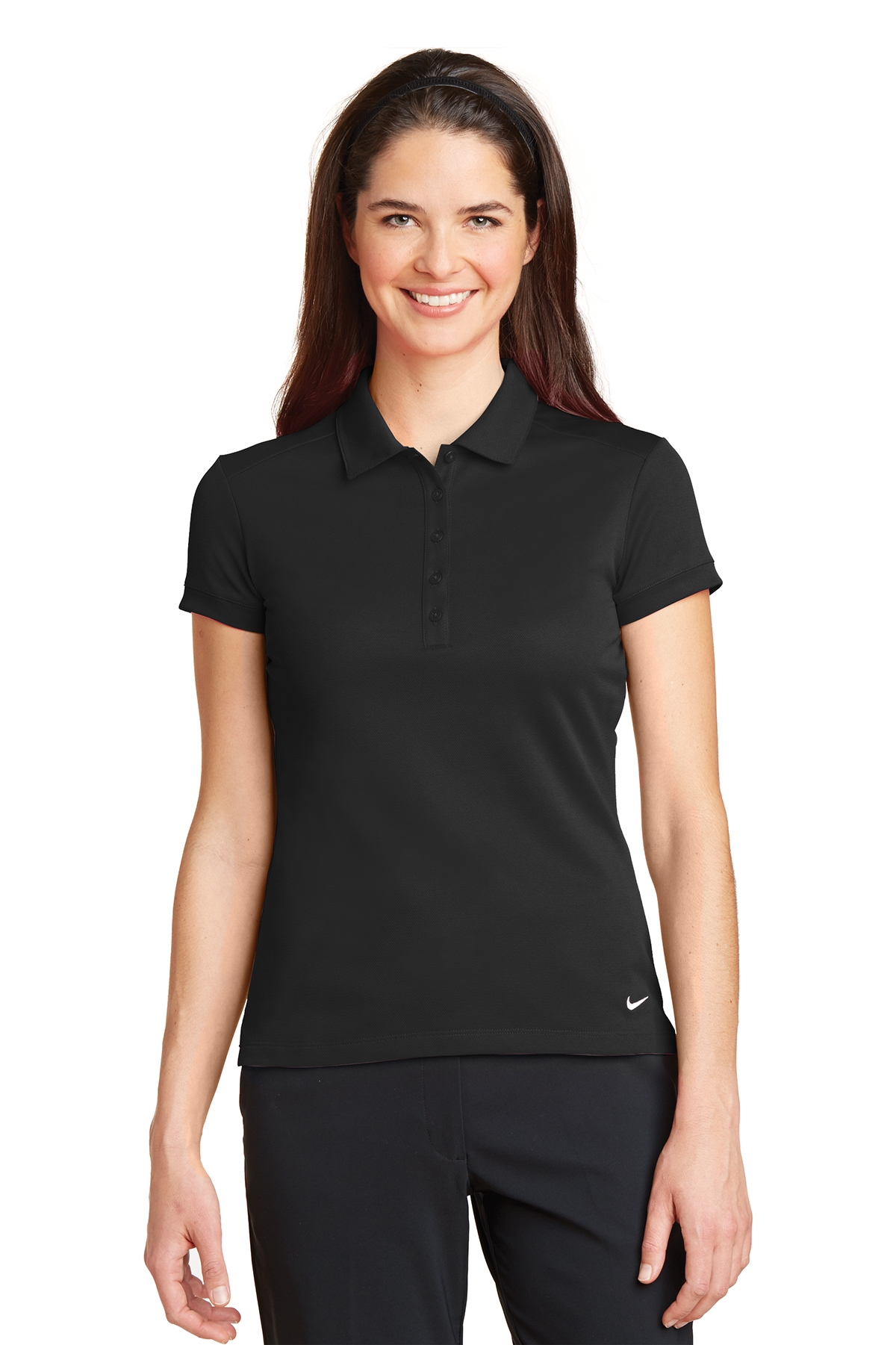 LH746100-SPG-Nike Ladies Dri-FIT Micro Pique Polo