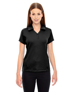 LHA78803 - SPG - North End Sport Red Ladies Exhilarate Coffee Charcoal Performance Polo with Back Pocket