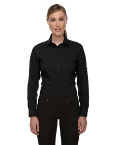 LHA78804 - SPG - North End Sport Red Ladies Rejuvenate Performance Shirt with Roll-Up Sleeves