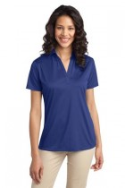 LHK540-MCR-Ladies Short Sleeve Performance Polo 100% poly Moisture Wicking