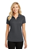 LHPL580-SPG-Ladies Pinpoint Mesh Zip Polo, Ladies Sizes: XS-4XL