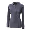 LlTR4485- SPG-Ladies Tru-Dri moisture wicking technology long sleeve polo shirt 100% poly [clone]