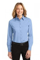 LLP608-DDG -  Ladies Long Sleeve Button Up