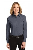 LLP608-SPG -  Ladies Long Sleeve Button Up
