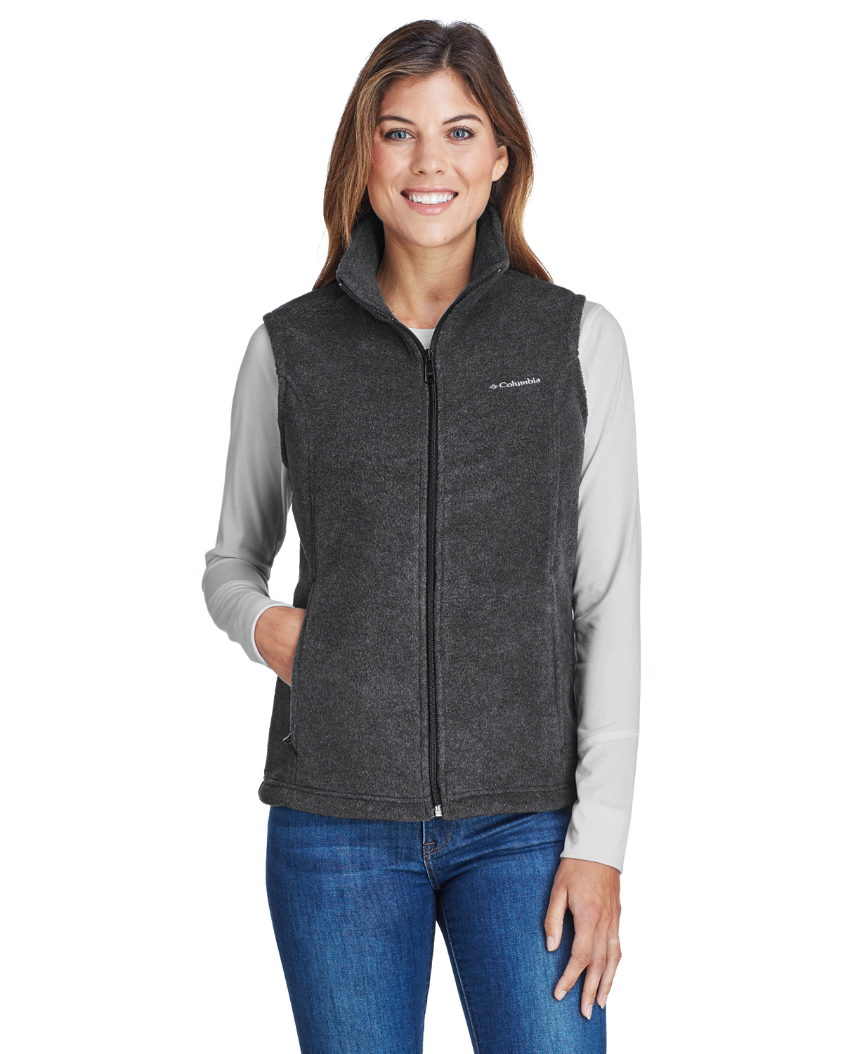 LVAC1023-SPG- Columbia Ladies Benton Springs™ VestColumbia Fleece Vest