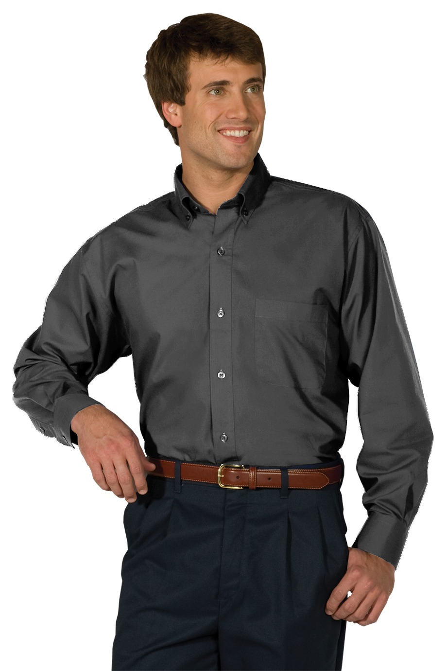 MHE1295-FKEY- Mens  Button Up Poplin Long sleeve. Sizes Small-6XL  | LARGE TALL - 6X TALL