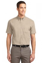 MHKP508-DDG- Mens Short Sleeve Button Down