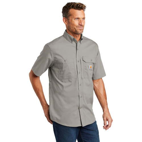 MHPCT102417-SPG-Carhartt Force ® Ridgefield Solid Short Sleeve Shirt Performance Fabric, Moistrue wicking polo