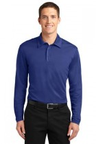 MLK540LS-FKEY - Mens Long Sleeve Performance Polo 100% poly Moisture Wicking