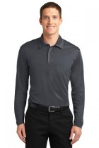 MLK540LS-SPG - Mens Long Sleeve Performance Polo 100% poly Moisture Wicking