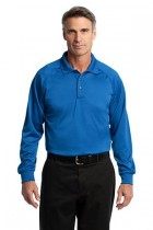 MLKCS410LS-DDG-Long Sleeve Polo moisture wicking, 100% poly