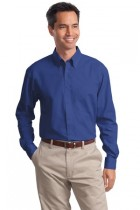 MLP632-DF- Mens Long Sleeve Wrinkle Resistent Poplin Button Down
