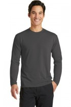 MLPPC381LS-SPG-Long Sleeve Performance Blend Crew T-Shirt -XSM - 4XL
