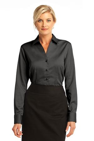 LHR63 - ALL - Ladies French Cuff Non-Iron Pinpoint Oxford