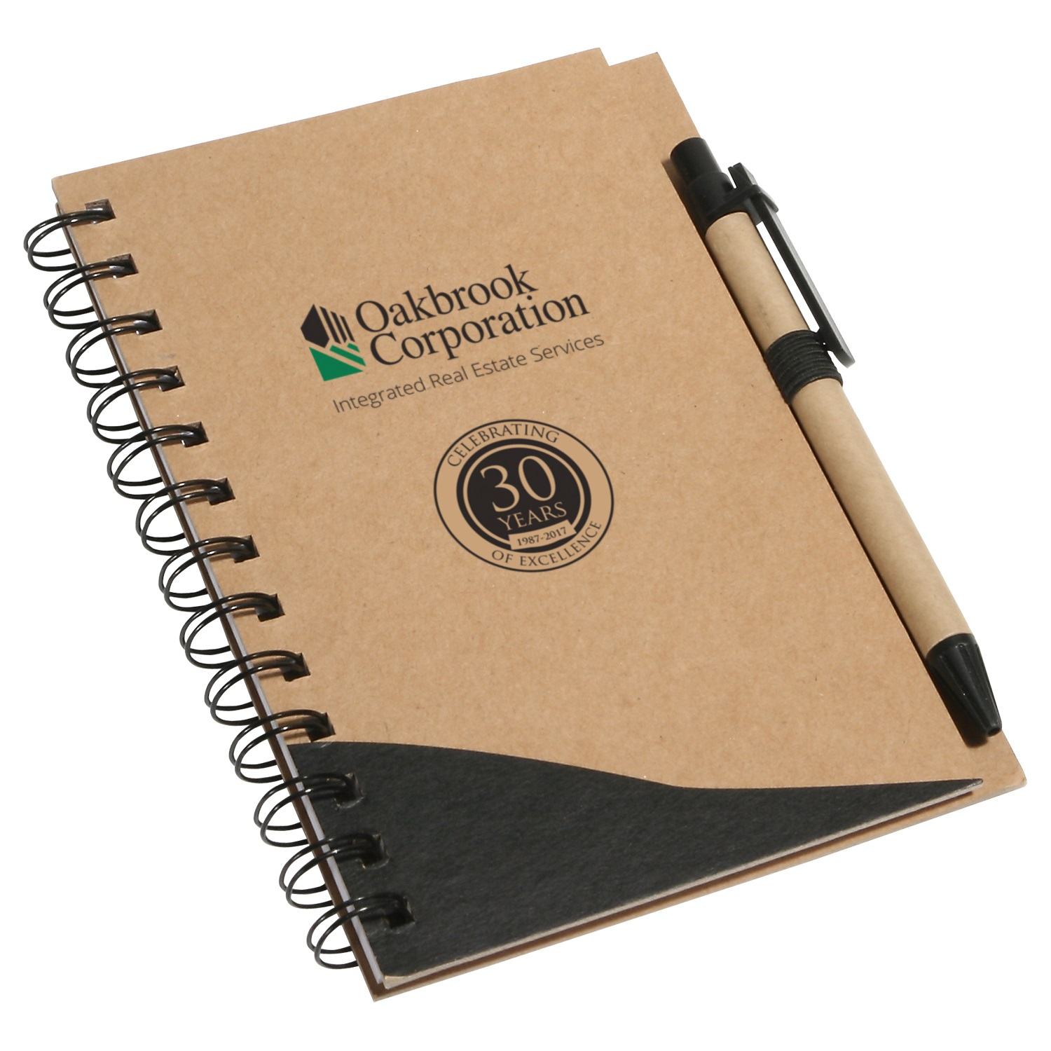 WOF-RW1OBK-Recycle Write Notebook and Pen Black