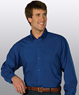 MLE1295T-GP - Men's Long Sleeve Poplin Shirt - MLE1295T-GP-LG TALL-
