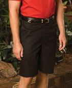 MPFE2460-GP - Mens flat front short with 11 inch inseam - MPFE2460-GP-