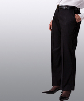 LPFE8567-GP - Ladies Flat Front Pant