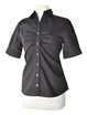 LH901M- ND - Ladies Short Sleeve Button Up with Placket Ruching - LH901M-ND