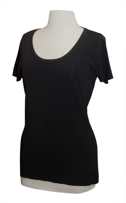 LH600-MSB - Ladies Scoop Neck Short Sleeve Knit
