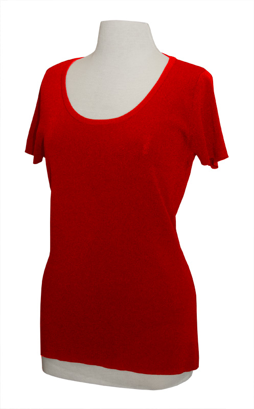 LH600-PRM - Scoop Neck Knit with Short Sleeves