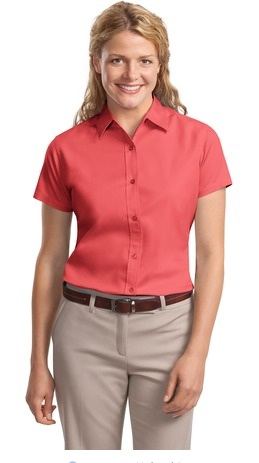 LHP508 - Ladies Short Sleeve Button Up