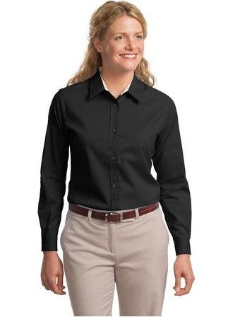 LLP608 - Ladies Long Sleeve Button Up