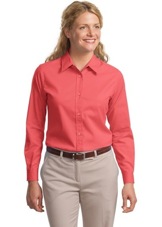 LLP608-RELATED- Ladies Long Sleeve Button Up