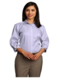LSR61 - Ladies 3/4-Sleeve Dobby Non-Iron Button-Down Shirt Wrinkle Resistant XSM - 4XL