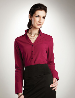 LHTMLB757 - Ladies Easy Care Long Sleeve Button Up