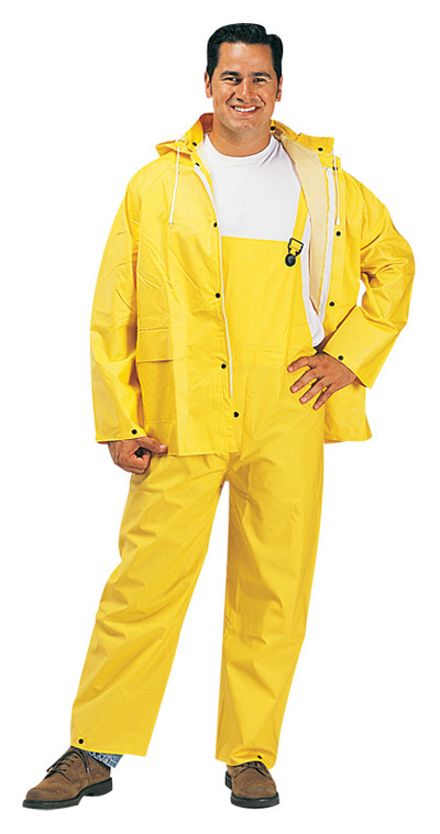 MLJL1220- Rainwear 3 Pieces  - Jacket, Hood, and Coveralls: Sizes Small - 6XL