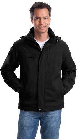 MLPJ302 - ALL - Mens 3 in 1 Herringbone Parka