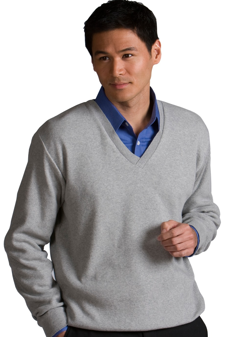MLE700 - Mens Cotton Cashmere V-Neck Sweater