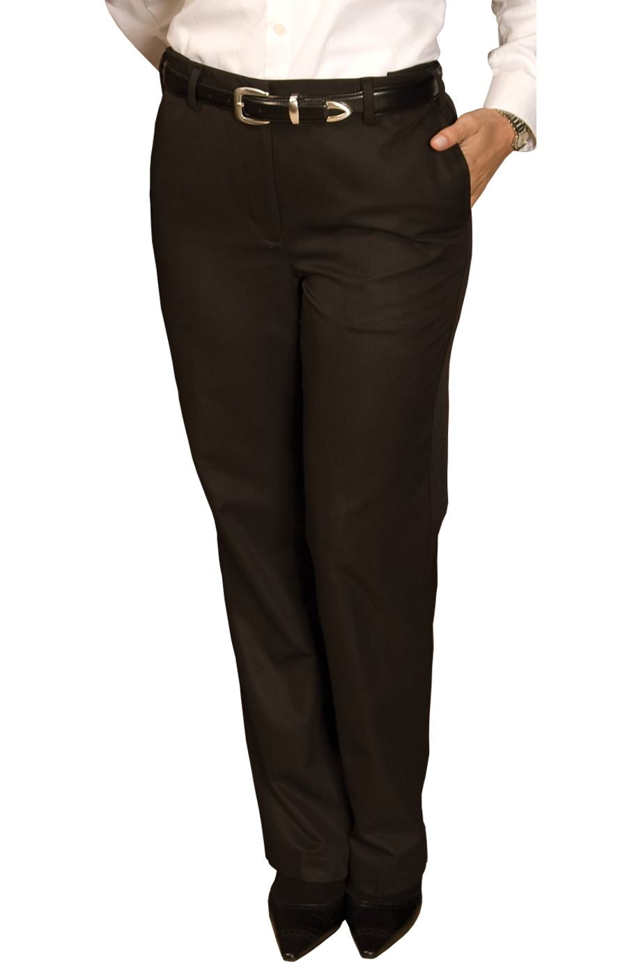LPFE8579 -  ALL - Ladies Flat Front  Mid Rise Pant