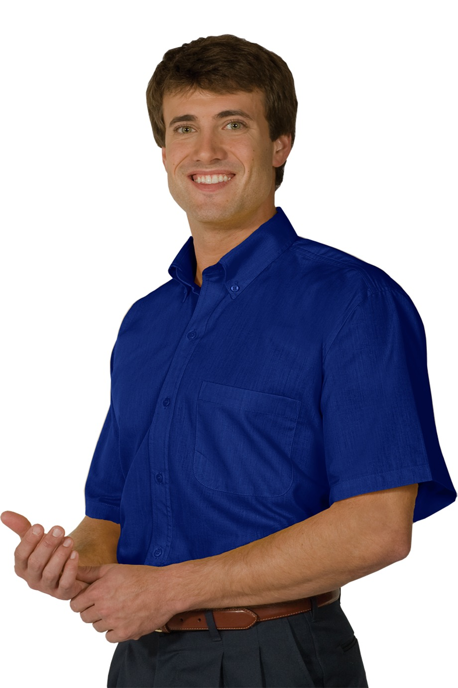 MHE1245-RELATED- Mens Poplin Short Sleeve. Sizes Small - 3XL