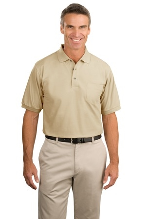MHK500P- MCRT- Menss Silk Touch Polo with Pocket