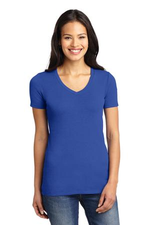 LHPLM1005-LADIES SHORT SLEEVE V NECK TEE
